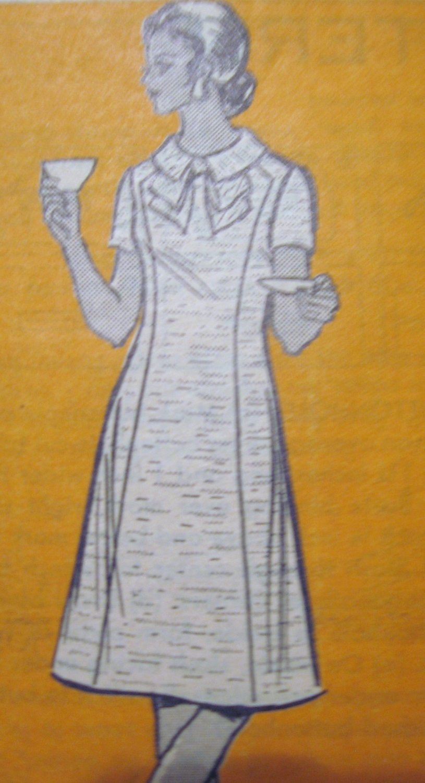 Mail Order Vintage One Piece Dress sz 16  no 9058