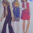 Girls Dress Blouse Vest Skirt and Pants Sewing Pattern  Butterick no.5379 size 14 Uncut