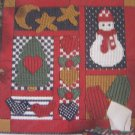 Plastic Canvas Country Quilt-Block Duos 4 Wall Hangings and Tissue Covers