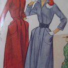 Vintage Front Zipper Dress Sewing Pattern McCalls No. 9065 Sz 18