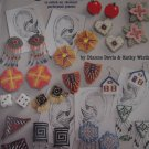 Plastic Canvas Just Earrings 32 Designs for 14 count Perforated Plastic
