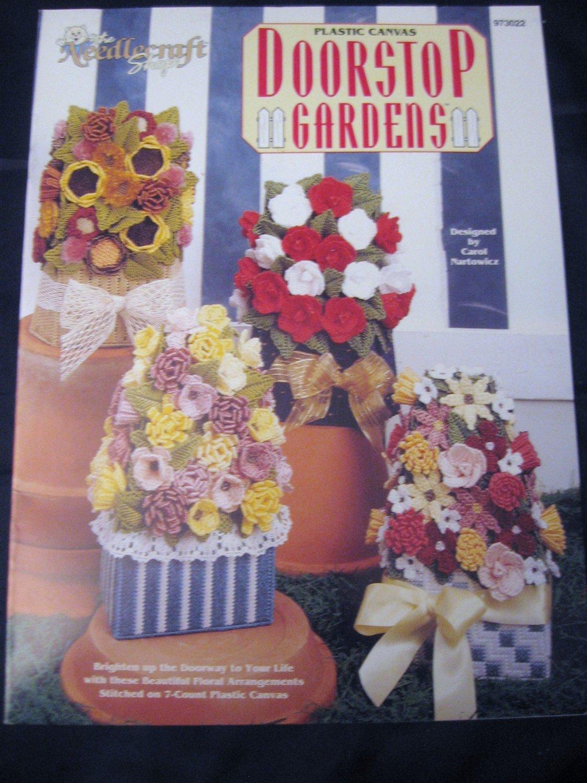 Plastic Canvas Doorstop Gardens 4 Floral Arrangements