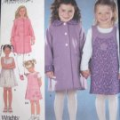 Girls Coat Jumper Knit Top Simplicity 9928 Sewing Pattern sz 3,4,5,6 uncut