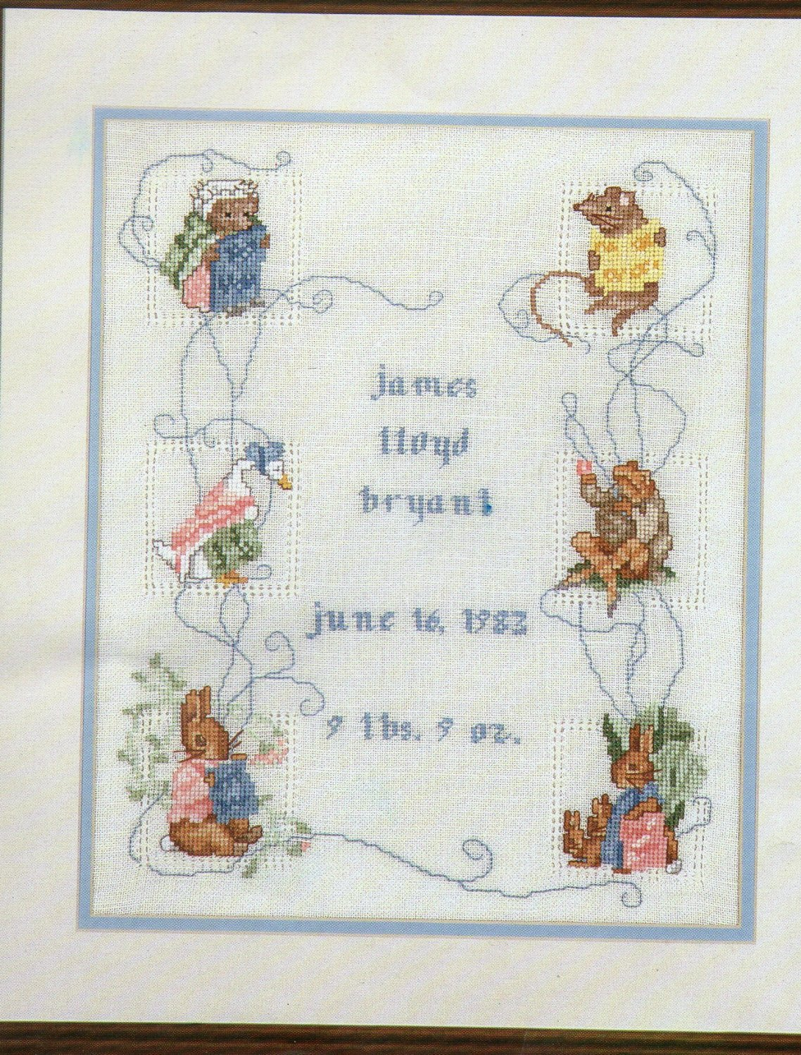 Betrix Potter Birth Sampler I for Counted Cross Stitch