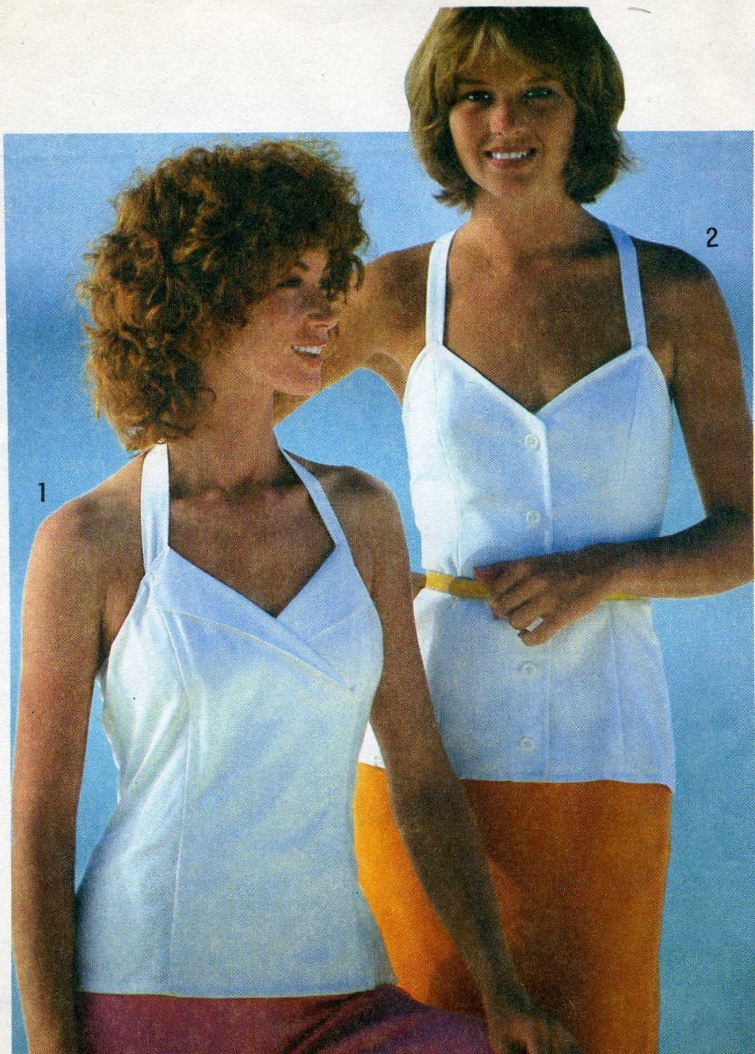 Simplicity 9526 Halter Criss Cross Backless Camisoles Sewing Pattern - uncut - Size 12