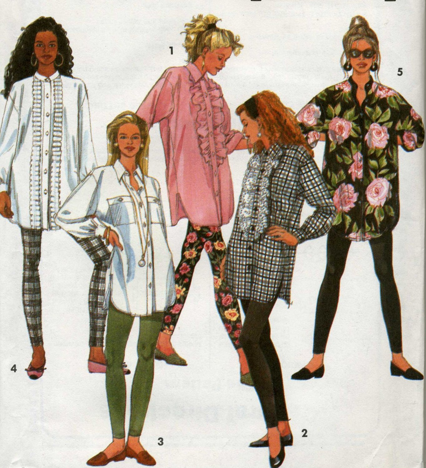 Simplicity 7968 Leggings and Loose Top Sewing Pattern size 12 - 18 uncut