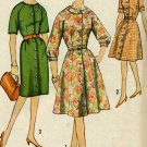 1960's Half Size  One Piece Dress Sewing Pattern with 2 Skirts Size 14 1/2 Simplicity 4777