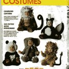 Toddler Skunk, Lion, Monkey, Elephant, Panda Costume  Sewing Pattern McCalls 7169,  Size 1/2,  Uncut