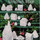 Christmas Village  - Christmas Cotton Thread Crochet Patternsm Church Christmas Tree, Cottage