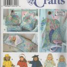 "18"" Doll  Clothes, Garment Bag, Tote and Sleeping Bag Sewing Pattern  Simplicity 8962, Uncut"