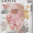 "8"" - 10"", 11"" - 13"", 14"" - 16""  Baby  Doll Clothes Sewing Pattern     McCalls 8554, uncut"