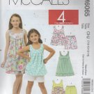 Girls Tops.  Dresses, Shorts ,Capri Pants Sewing  Pattern  size 7 8 10 12 14  - Uncut -McCalls 6065