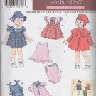 "Doll  Clothes Sewing Pattern Dress Bonnet Coat Romper  Simplicity 3879 For dolls 12"" - 22"" Uncut"