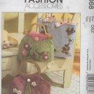 Lined Felt Applique Purse Handbags Sewing Pattern,  3 Designs, McCalls 5068 Uncut,  Simplicity 9658