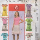 Girls Shurgs, Tank Top and Skirt Sewing Pattern   Sizes 7  8 10   McCalls 5038  Uncut
