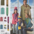 Unisex Childs, Teen & Adult  Vest, Hat, Scarves,  Mittens Sewing Pattern  Simplicity 2743      Uncut
