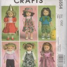 "18"" Doll Clothes Sewing Pattern, Dress, Sundress, Top, Pants, Vest,  Backpack McCalls 5554 , Uncut"