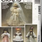 "13"", 14"", 15"" Victorian Doll Clothes Sewing Pattern McCalls 5907 Uncut"