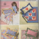 "18""  Doll Bed and Quilts Sewing Pattern   Butterick 4538 Uncut"