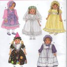 "18""  Doll  Clothes  Sewing Pattern, Dress, Hat, Veil, Slip  Simplicity 3520, Uncut"