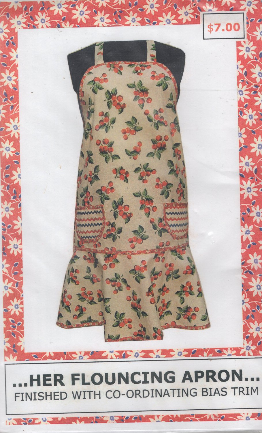 Misses  Flouncing  Apron Sewing Pattern