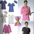 Womens Scrub Tops and Hat  Sewing Pattern Easy to Sew Simplicity 3932 Plus Sizes