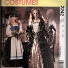 Misses Adult Renaissance Costume Sewing Pattern McCalls 2242 Sizes 10 12 14 Uncut