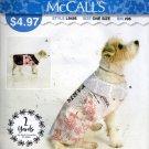 Dog  Coat  Sewing Pattern  It's Sew Simple McCalls L9495 xs - xl