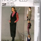 Misses Jumper and Shirt Sewing Pattern McCalls 9006 10 12 14