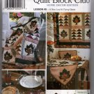 A New Leaf and Flying Geese Quilt Block Club Sewing Pattern  Simplicity 7035