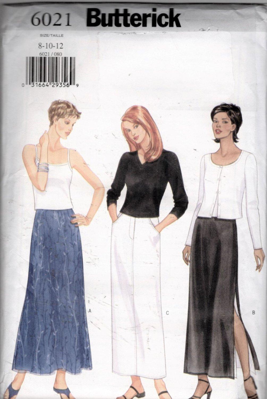 Misses'   Skirt Sewing Pattern   Butterick 6021 Size 8 10 12  Uncut