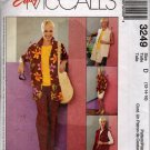 Misses  Wardrobe Shirt, Top, Pull on Pants Sewing Pattern   McCalls 3249  Size 12, 14, 16  Uncut