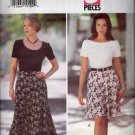 Misses Skirt Sewing Pattern Very Easy Butterick 3402 3 Piece Pattern Size 6 8 10 12, Uncut