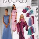 Girls Tops, Skirts, & Stole Sewing Pattern Sizes 12 14 16 McCalls 3465 Uncut