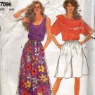 Misses Pull Over Top & Culottes Sewing Pattern Size 8 -  20 It's So Easy Simplicity 7096 Uncut