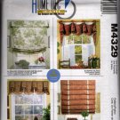 Window Treatment Sewing Pattern Roman Shade, Valance, Trim Shade, McCalls 4329 Uncut