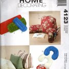 Neck Roll, Wedge Pillow and Bolster  Sewing Pattern,  McCalls 4123 Uncut