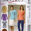 Misses Knit Tops Sewing Pattern   McCalls 6513 Size 14 16 18 20 22 Uncut