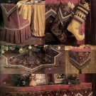 Luxe Christmas Accessory Pattern Tree Skirt, Mantle Scarf, Stocking, Chair Cover Vogue 7815