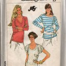 Misses Knit Loose Fitting Pullover Top Sewing Pattern  Jiffy Simplicity 7900 sizes 10 - 24 Uncut