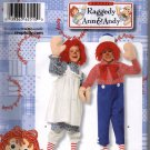 Childs Raggedy Ann and Andy Costume Sewing Pattern Sizes 3 4 5 6 7 8 Simplicity 2510 Uncut
