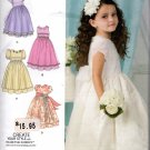 Girls Special Occasion Confirmation Dress Sewing Pattern Sizes 4 5 6 7 8 Simplicity 1507 Uncut