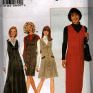Misses Front Buttoned Jumper Sewing Pattern Simplicity 7759 Size 6 8 10 12, Uncut
