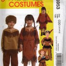 Girls and Boys Cowboy & Native American Costumes Sewing Pattern   McCalls 5953 sz 2-5