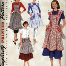 Retro '48 & '52  Style Apron Sewing Pattern   Simplicity 3544