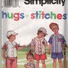 Toddler Pants Shorts Shirt and Cap Sewing Pattern Simplicity 8317 Size 1, 2, 3, 4