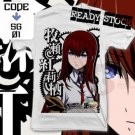 ANIME MANGA T-SHIRT TEES KURISU MAKISE STEINS GATE S M L XL 2XL
