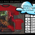 FULL GRAPHIC T SHIRT GAME TEES DOTA 2 RED T-SHIRT JUGGERNAUT