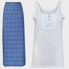Ladies 8 10 Summer Maxi Skirt & Cotton Sleeveless Vest Holiday Woman Top