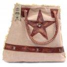 Ladies Spacious Dusty Pink  Vintage Design Sturdy Leather Handles Shoulder Bag